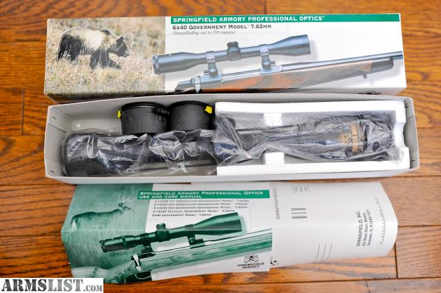springfield armory 6x40 government model scope manual
